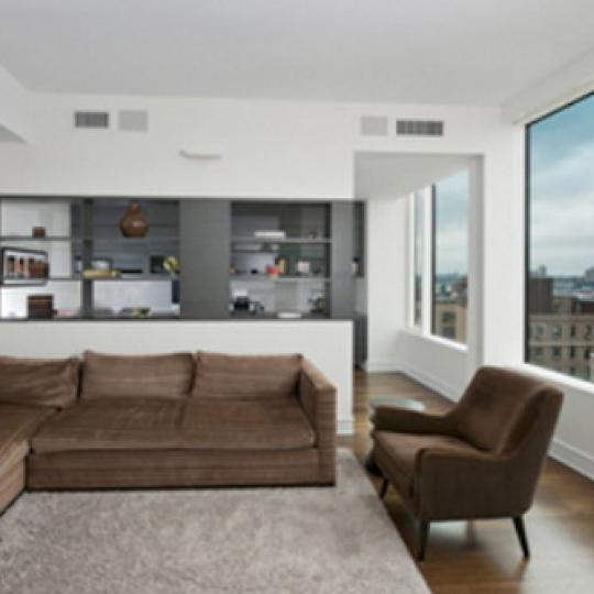 Ariel West New Construction Building Living Room – NYC Condos