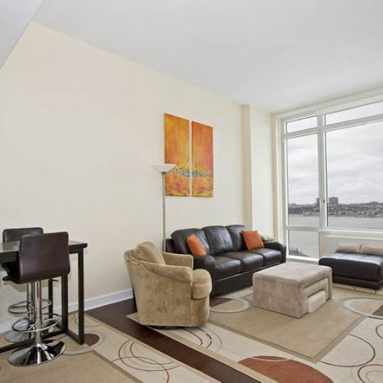 Avery Living Room - 100 Riverside Boulevard Condos for Sale