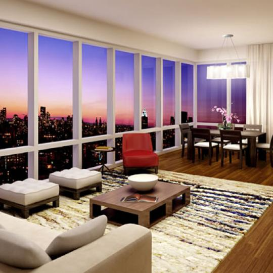 255 East 74th Street Living Room – Manhattan New Condos
