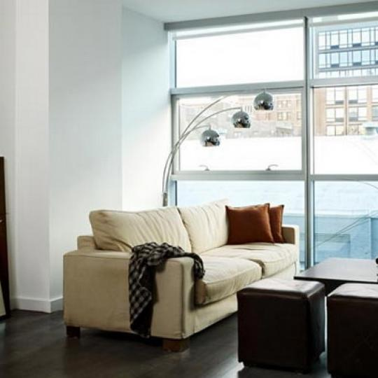 Chelsea Modern New Construction Building Living Room – NYC Condos