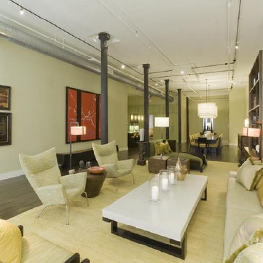 Diamond on Duane Living Room - Tribeca NYC Condominiums