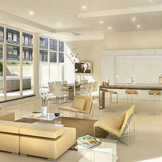 111 Fulton Street New Construction Condominium Living Room