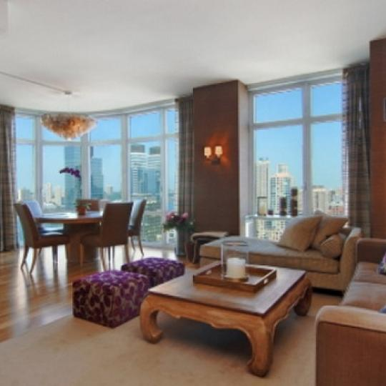 555 West 59th Street NYC Condos – Living Room at Element Condominium