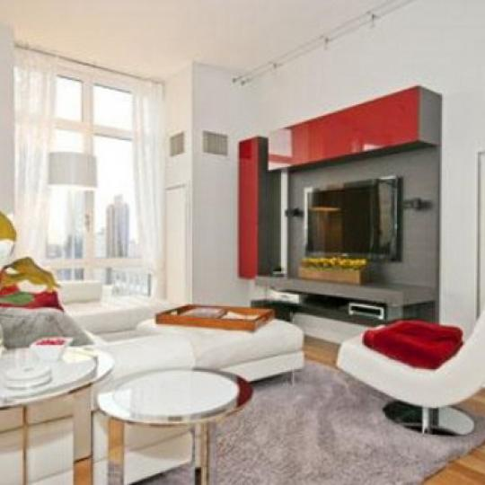 Element Condominium Living Room – Manhattan Condos for Sale