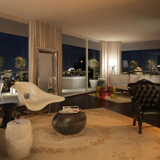Gramercy Starck Living Room - 340 East 23rd Street Condos for Sale