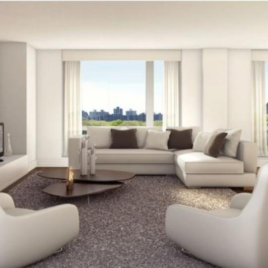1280 Fifth Avenue Living Room - Manhattan New Condos
