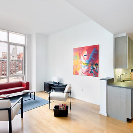200 Chambers Street Living Room - NYC Condos for Sale
