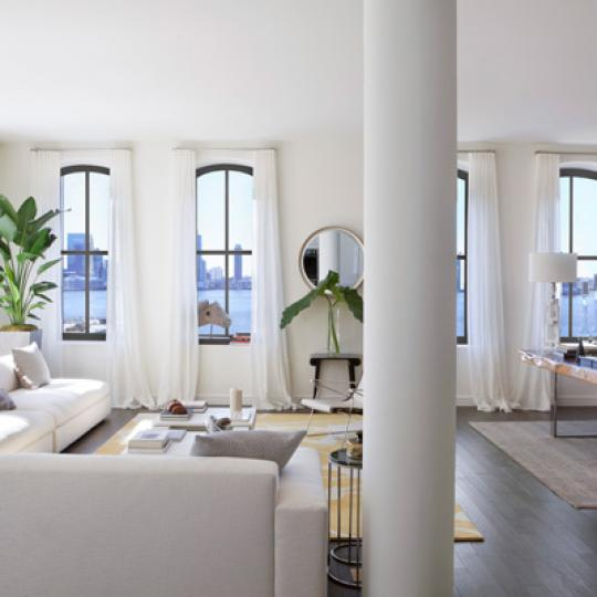 250 West Street Living Room - Manhattan Condos for Sale