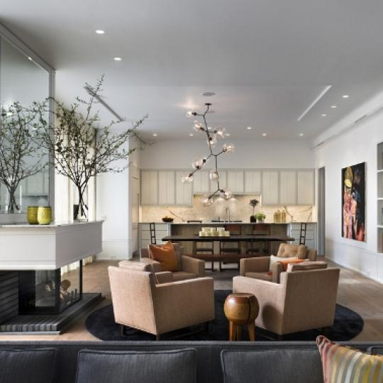 41 Bond Street New Construction Building Living Room - NYC Condos