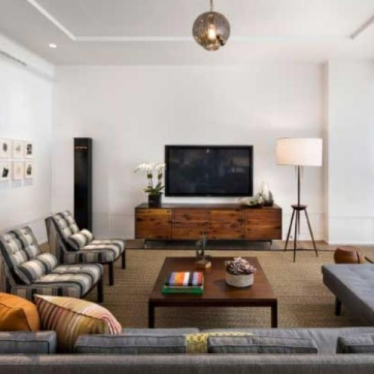 41 Bond Street Living Room - Manhattan New Condos