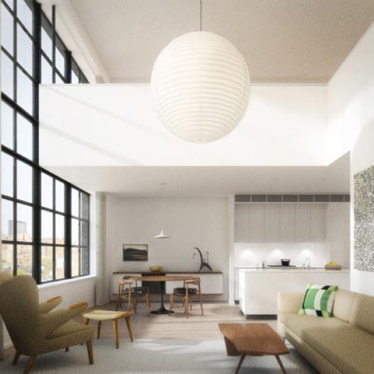 456 West 19th Street Living Room – Manhattan Condos for Sale