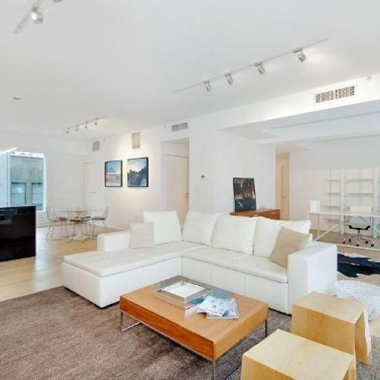 459 West 18th Street Living Room - NYC Condos for Sale