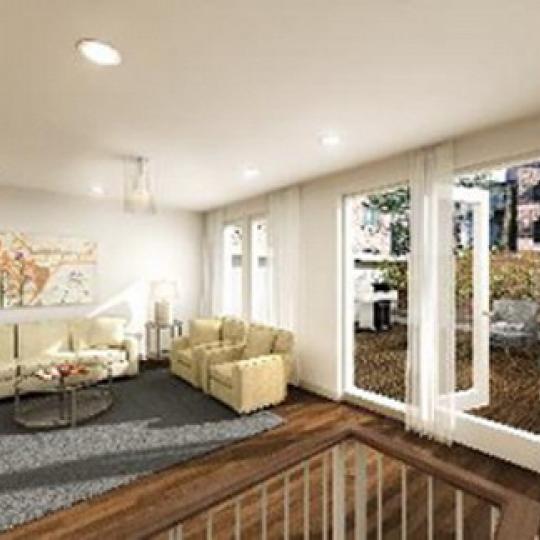 459 West 44th Street Living Room - Clinton NYC Condominiums