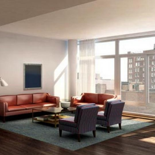 520 West 19th Street Living Room – Manhattan New Condos