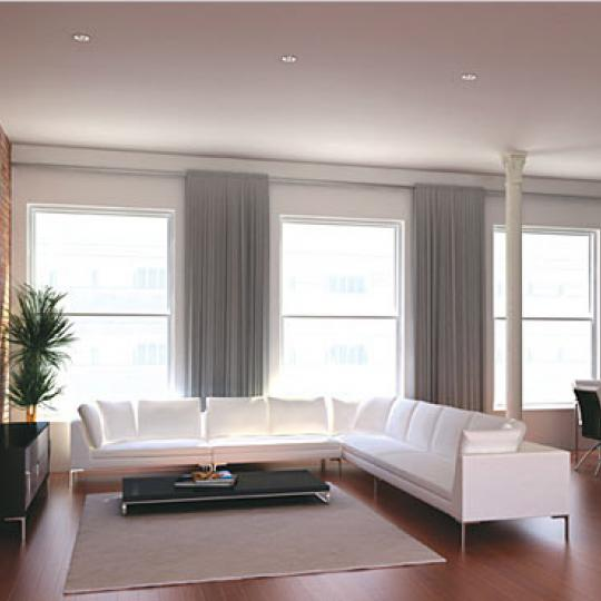 52 Thomas Street Living Room – NYC Condos for Sale