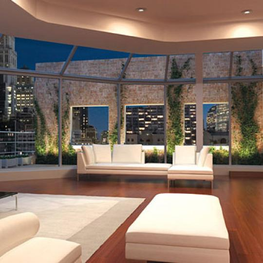 52 Thomas Street New Construction Building Living Room – NYC Condos