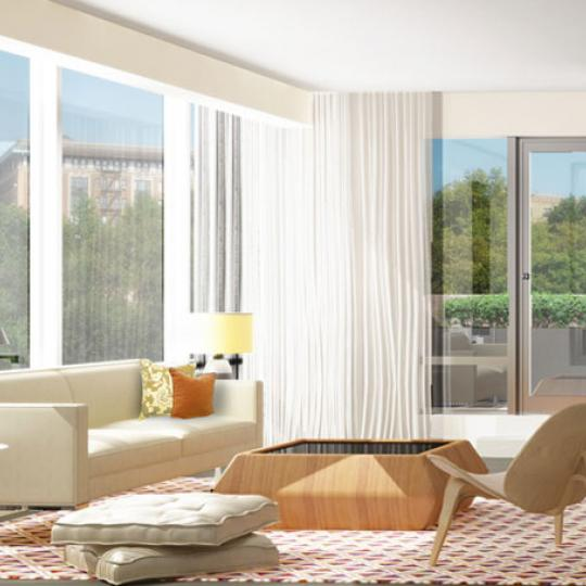 88 Morningside Avenue New Construction Building Living Room – NYC Condos