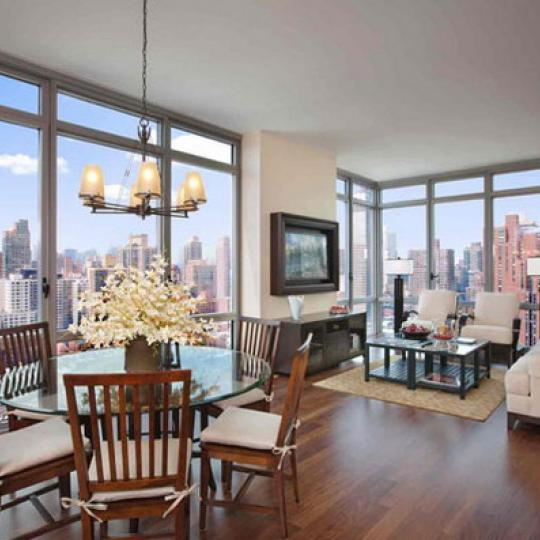 Azure New Construction Building Living Room – NYC Condos
