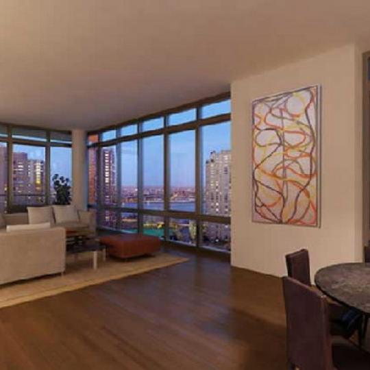 333 East 91st Street Living Room – Manhattan New Condos