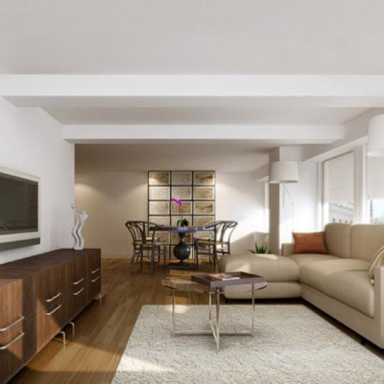 90 William Street Living Room – Manhattan New Condos