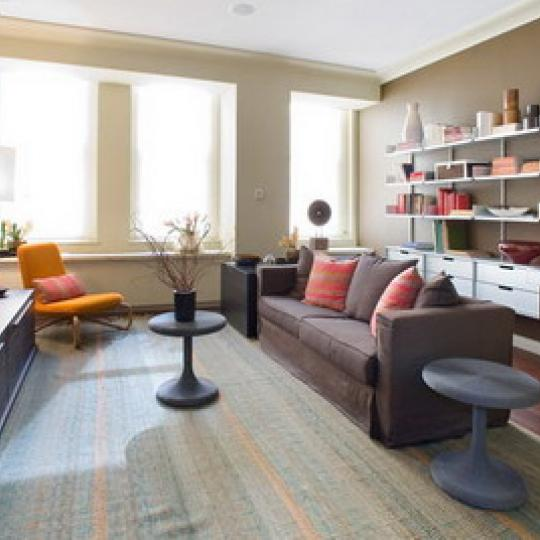 55 Wall Street Electric Living Room - NYC Condos for Sale