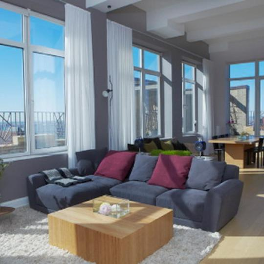 88 Greenwich Street Living Room – NYC Condos for Sale
