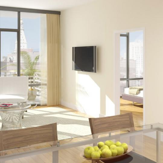 ONE48 Living Room - Condominiums for Sale NYC