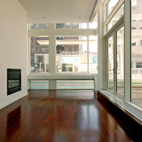 Tribeca Townhomes Penthouse Living Room - 16 Warren Street Condos for Sale