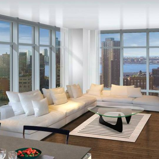 Reade57 Living Room - Manhattan Condos for Sale