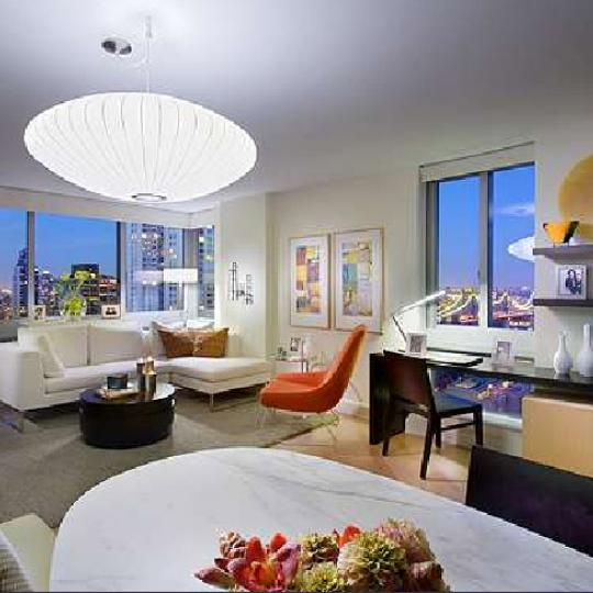 235 East 55th St Living Room - NYC Condos for Sale