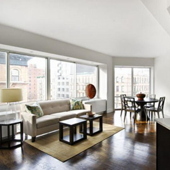 The Douglass Living Room – Manhattan Condominiums for Sale