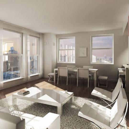 The Emory New Construction Building Living Room - NYC Condos