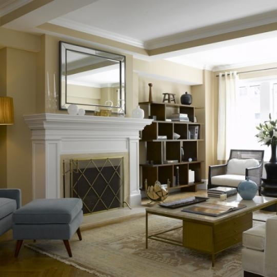 The Merritt House Living Room - Condominiums for Sale NYC