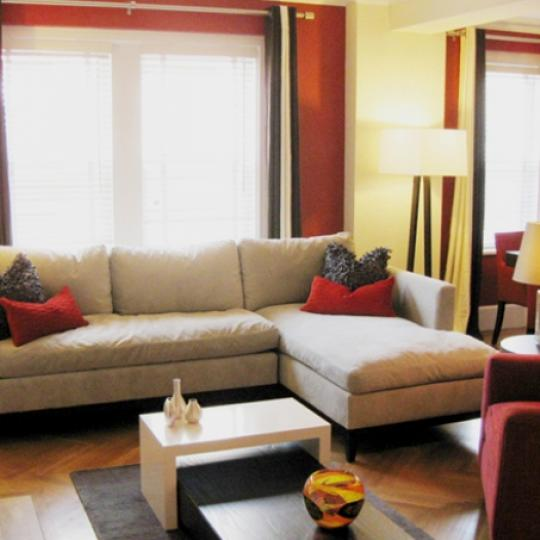 The Merritt House Living Room - Condos for Sale NYC