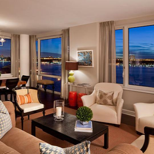 80 Riverside Boulevard Living Room - NYC Condos for Sale