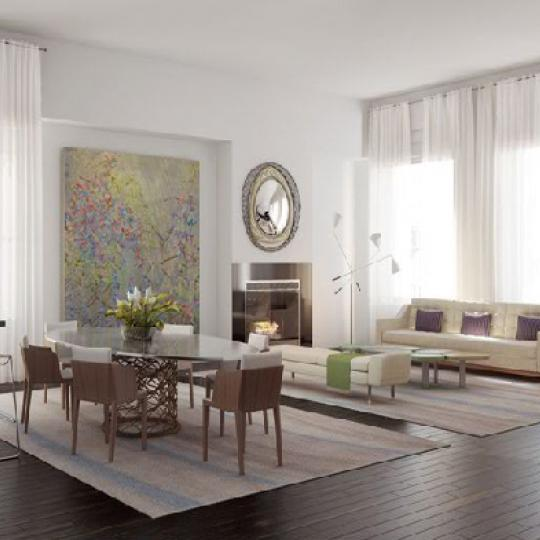 The Story House Living Room – Manhattan Condos for Sale