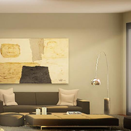The Vetro Living Room - Murray Hill NYC Condominiums
