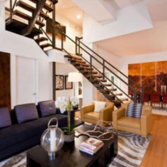 Tribeca Summit Living Room - 415 Greenwich Street Condos for Sale