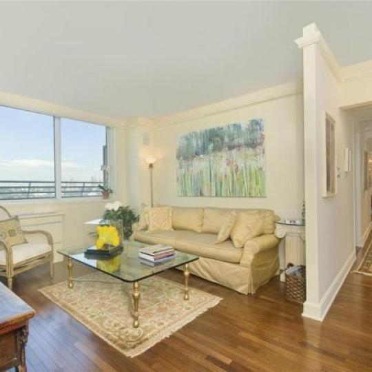 Trump Place Living Room - New Condos for Sale NYC