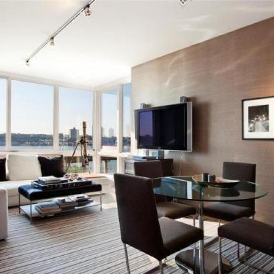 120 Riverside Boulevard Manhattan - Living Room at Trump Place