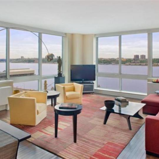 120 Riverside Boulevard NYC Condos - Living Room at Trump Place