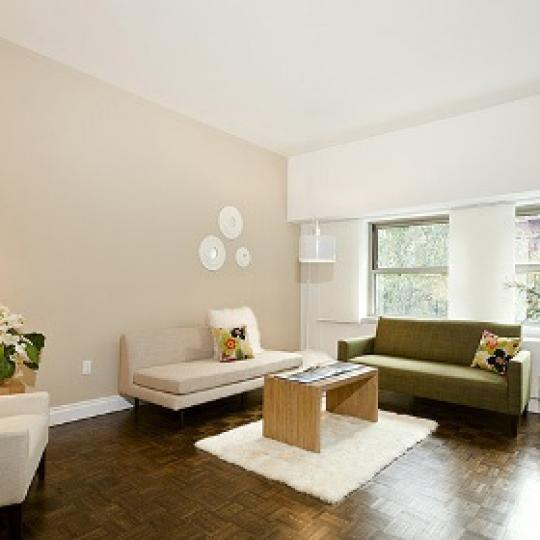 Wellington Tower Living Room - Condominiums for Sale NYC