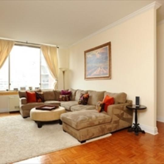 Wellington Tower Living Room - Condos for Sale NYC
