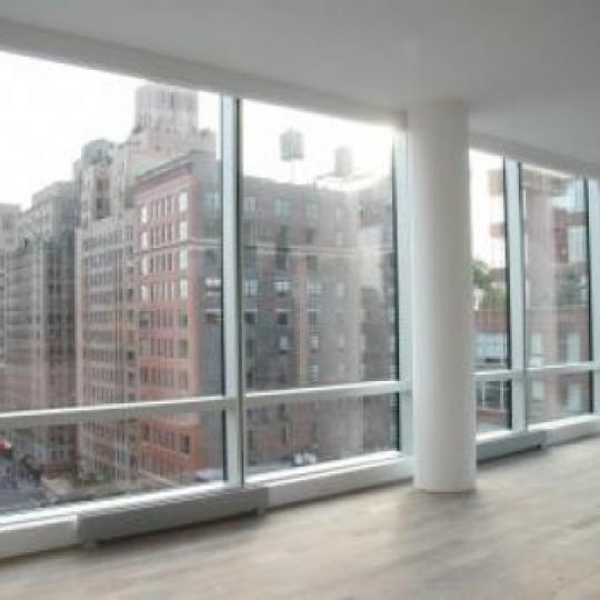 166 West 18th Street Living Room – NYC Condos for Sale