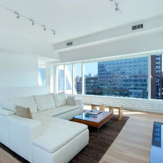 459 West 18th Street New Construction Building Living Room - NYC Condos