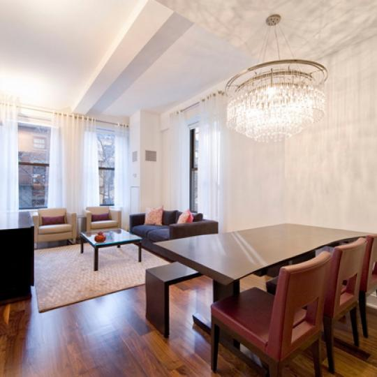 The Clement Living Room – Chelsea NYC Condominiums