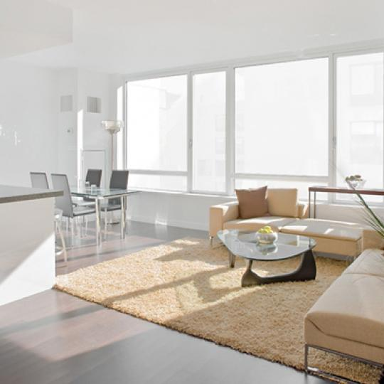 The Onyx Living Room - 261 West 28th Street Condos for Sale