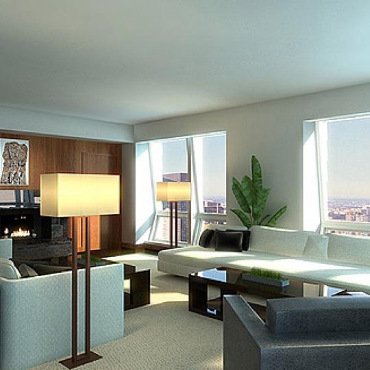 400 Fifth Avenue Living Room – New Condos for Sale NYC