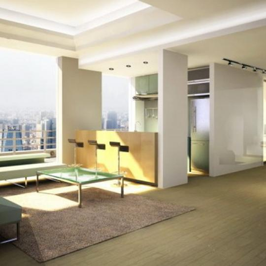 WA Condominiums living Room - Manhattan Condos for Sale
