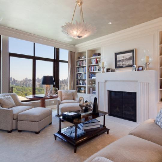 The Intercontinental Living Room - 110 Central Park South Condos for Sale